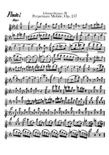 Perpetuum Mobile, Op.257: Flutes parts by Johann Strauss (Sohn)
