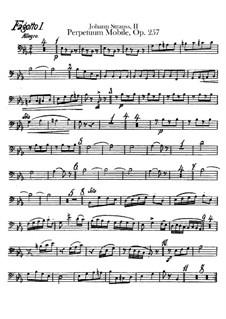 Perpetuum Mobile, Op.257: Bassoons parts by Johann Strauss (Sohn)