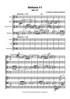 No.11 in G Minor, BWV 797: For wind septet, MME43 by Johann Sebastian Bach