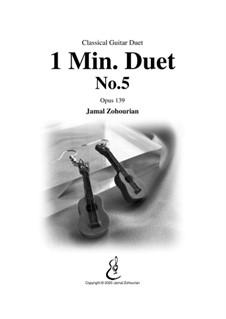 1 Min Duet No.5, Op.139: 1 Min Duet No.5 by Jamal Zohourian