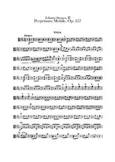 Perpetuum Mobile, Op.257: Violas part by Johann Strauss (Sohn)