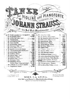 Artist's Life, Op.316: For violin and piano – piano part by Johann Strauss (Sohn)
