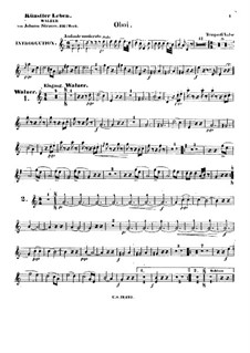 Artist's Life, Op.316: Oboes part by Johann Strauss (Sohn)