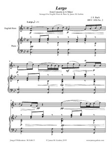 Movement II (Two Instruments Version): For English Horn & Piano by Johann Sebastian Bach