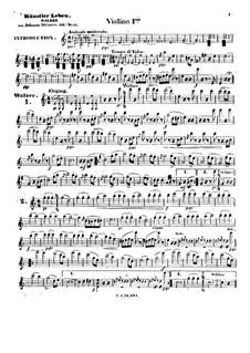 Artist's Life, Op.316: Violins I part by Johann Strauss (Sohn)