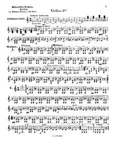 Artist's Life, Op.316: Violins II part by Johann Strauss (Sohn)