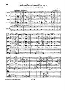 Anima Christi, sanctifica me, S.46: Second version by Franz Liszt