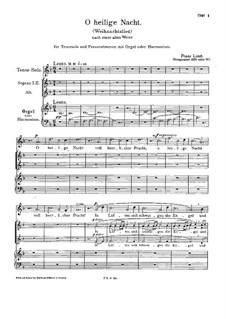 O Holy Night, S.49: O Holy Night by Franz Liszt