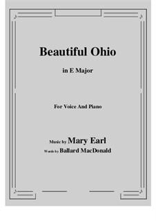 Beautiful Ohio. Song: E Major by Robert A. King