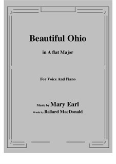 Beautiful Ohio. Song: A flat Major by Robert A. King