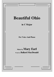 Beautiful Ohio. Song: C Major by Robert A. King