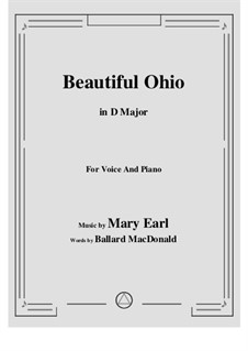 Beautiful Ohio. Song: D Major by Robert A. King