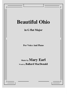 Beautiful Ohio. Song: G flat Major by Robert A. King