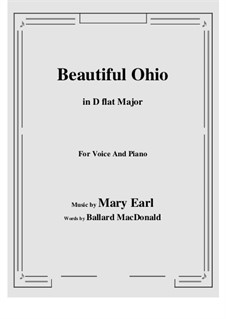 Beautiful Ohio. Song: D flat Major by Robert A. King