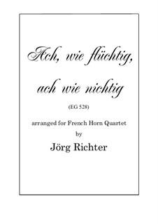 Ach, wie flüchtig, ach wie nichtig: For French Horn Quartet by Johann Crüger