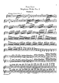 Waltz No.2 in E Flat Major for Orchestra, S.111: Violins I-II parts by Franz Liszt