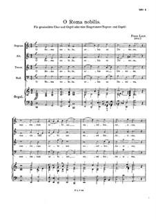 O Roma nobilis, S.54: O Roma nobilis by Franz Liszt