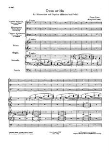 Ossa arida, S.55: Ossa arida by Franz Liszt