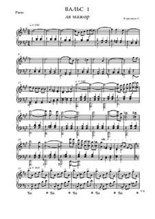 Вальс No.1 ля мажор: Вальс No.1 ля мажор by Sergei Koreshkov