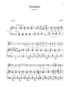 Five Songs, Op.106: No.1 Serenade by Johannes Brahms