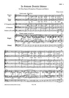 In domum Domini ibimus, S.57: In domum Domini ibimus by Franz Liszt