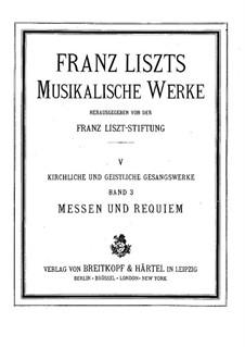 Mass, S.8: Mass by Franz Liszt