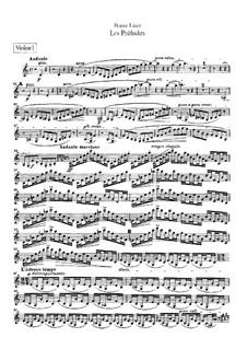 Symphonic Poem No.3 'Les préludes' for Orchestra, S.97: Violins I-II parts by Franz Liszt