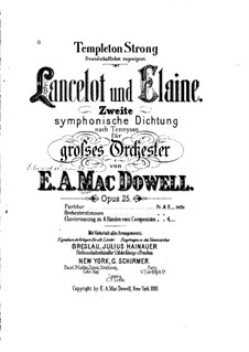 Lancelot and Elaine, Op.25: Lancelot and Elaine by Edward MacDowell