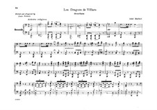Les Dragons de Villars: Overture, for Piano Four Hands by Aimé Maillart