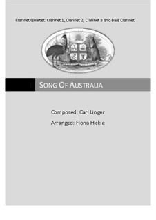 Song of Australia: For quartet clarinets by Carl Linger