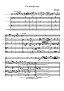 Clarinet Quintet: Clarinet Quintet by Jordan Grigg