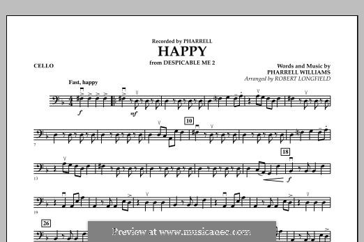 Happy (from Despicable Me 2) arr. Robert Longfield: Cello part by Pharrell Williams
