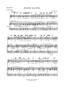 Amarilli, mia bella: G minor by Giulio Caccini