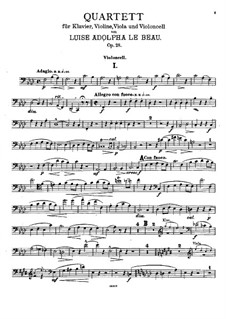 Piano Quartet in F Minor, Op.28: Cello part by Luise Adolpha Le Beau