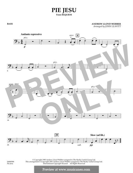 Pie Jesu (from Requiem): For string orchestra – Bass part by Andrew Lloyd Webber