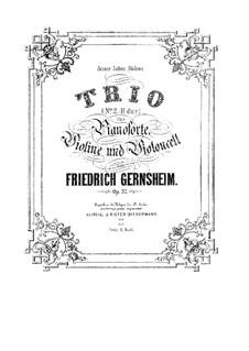 Piano Trio No.2 in B Major, Op.37: Piano Trio No.2 in B Major by Friedrich Gernsheim