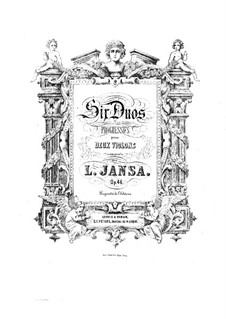 Six Duos for Two Violins, Op.46: Violin II part by Leopold Jansa