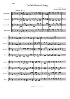 The Whiffenpoof Song (Baa! Baa! Baa!): For clarinet quartet by Tod Buchanan Galloway