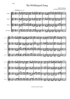 The Whiffenpoof Song (Baa! Baa! Baa!): For flute quartet (3 C flutes and 1 alto flute) by Tod Buchanan Galloway