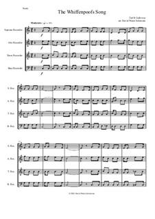 The Whiffenpoof Song (Baa! Baa! Baa!): For recorder quartet by Tod Buchanan Galloway