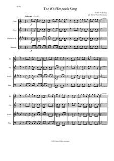 The Whiffenpoof Song (Baa! Baa! Baa!): For wind quartet by Tod Buchanan Galloway