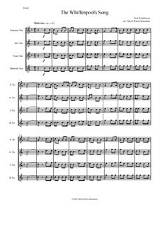 The Whiffenpoof Song (Baa! Baa! Baa!): For saxophone quartet by Tod Buchanan Galloway