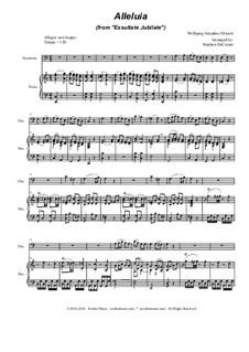 Exsultate, jubilate, K.165: Alleluia, for Trombone solo and Piano by Wolfgang Amadeus Mozart