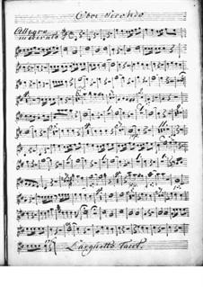 Harpsichord Concerto in D Major: Oboe II part by Niccolò Jommelli