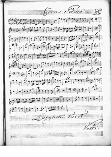 Harpsichord Concerto in D Major: French horn I part by Niccolò Jommelli