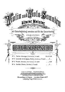 Sonata for Viola and Basso Continuo in F Minor: Arrangement for viola and piano by Pietro Nardini