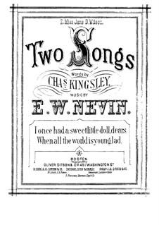 I Once Had a Sweet Little Doll, Dears: In A Flat Major by Ethelbert Woodbridge Nevin
