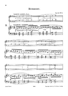 Six Short Melodic Pieces for Harmonium and Piano, Op.40: No.3 Romance – score by Horace Wadham Nicholl