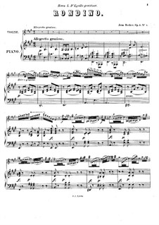 Rondino for Violin and Piano, Op.3 No.4: Score by Jean Becker
