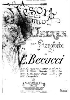 Tesoro mio, Op.228: For piano by Ernesto Becucci